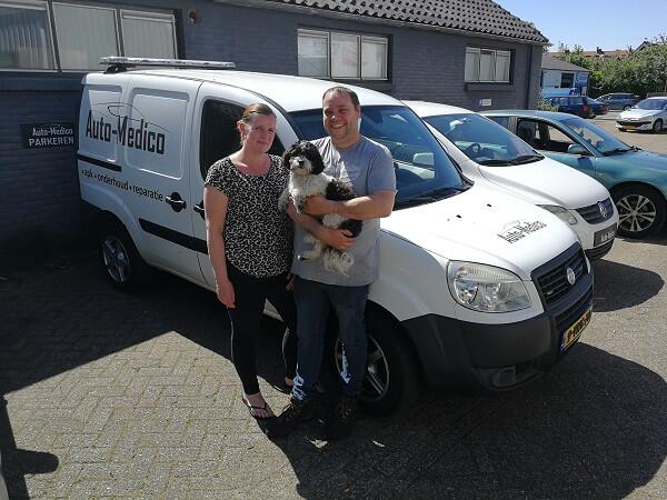 Michel Yuithof en Joyce Tuithof oprichters en eigenaren van Auto Medico Garage in Voorschoten